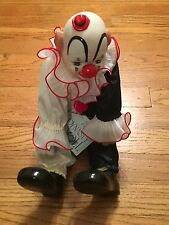 """DYNASTY DOLL COLLECTION PORCELAIN CLOWN DOLL 16"""" Circus Decoration"""