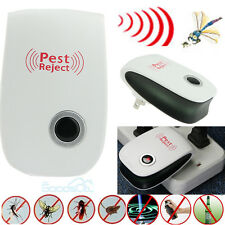 Electronic Ultrasonic Anti Pest Bug Mosquito Cockroach Mouse Killer Control Repe