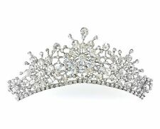 Hollywood Icon Audrey Hepburn Style CZ Costume Chunky Head Hair Crystal Tiara