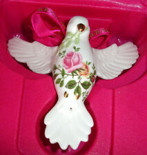 Royal Albert Old Country Roses DOVE OF PEACE Christmas Ornament Boxed New