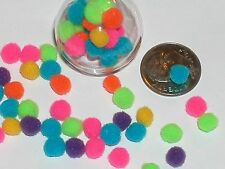 20pc tiny Bright Rainbow pom pom puffs Miniature for glass rice writing bottles