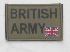 BRITISH ARMY & Union Jack 50x80mm, oliv,Klett/Velcro,Armabzeichen,Patch,MTP