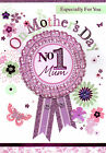 hand crafted MUM mother's day card - traditional mothers day attachment card