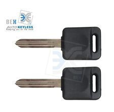 2 Uncut Compatible Transponder Ignition Key 46 ID Chip Nissan For 2005-12 Xterra