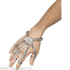 Women's Day Of The Dead Skeleton Hand Bracelet Fancy Dress Halloween Accessory