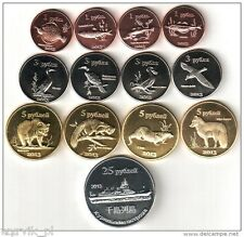KURIL KOURILES Islands 2013 set of 13 coins UNC