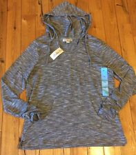 NWT Womens Vintage America Black Sloan Light Weight Pullover Hoodie XL