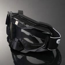 Folding Frame Motocross Dirt Bike ATV MX Goggles Black Off Road Eyewear Glasses