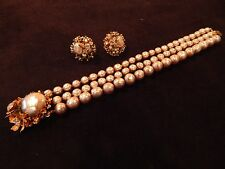 VINTAGE  MIRIAM HASKELL BRACELET & EARRINGS