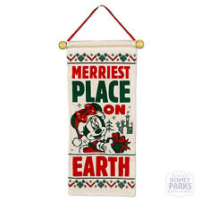 Disney Parks Santa Mickey and Minnie Mouse Holiday Doorknob Banner