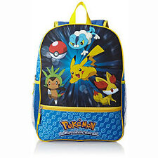 Pokemon Catch 'em All Kids Boys Backpack Book Bag Blue NEW