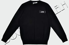 GIVENCHY 600$ Authentic New Black Wool Cuban FIt Love Embroidery Sweater sz XL
