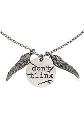 Doctor Who Don't Blink Pendant With Wings Stainless Steel Chain Necklace BBC Lic