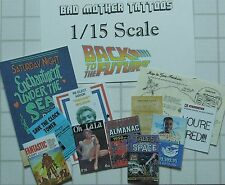 Back to the Future 1/15 scale Magazines and Documents - Large Assortment
