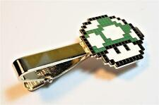 Super Mario World Bros 1UP GREEN MUSHROOM PIxel SNES Nintendo Suit Tie Bar Clip