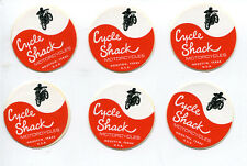 Cycle Shack Motorcycle Shop Houston Texas Mini Decal Sticker Set of 6 New