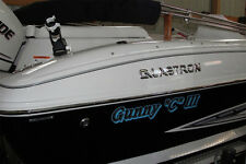 Custom Speed Deck Boat Name Vinyl Lettering Letters Decal Sticker 1 Shadow Color