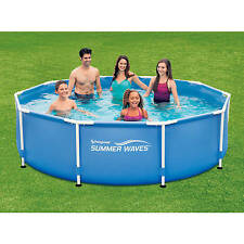 "Metal Frame Swimming Pool 10' x 30"" Above Ground Pools Family Backyard Pool NEW"