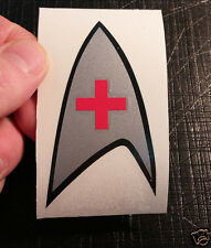 Star Trek Medical Insignia TOS cut vinyl bumper sticker decal SILVER