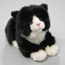 NEW PLUSH CUDDLY CRITTERS BLACK & WHITE CAT WITH SOUND SOFT TOY KITTEN TEDDY