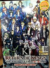 K Project: Return of Kings (Season 2) (TV 1 - 13End) ~ DVD ~ Eng Sub Japan Anime