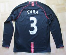 Patrice Evra MANCHESTER UNITED long sleeve NIKE 2007/08 SIZE XL.Boys (XS adults)