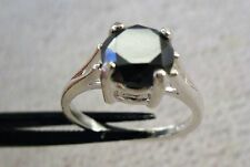 2.25ct NATURAL BLACK DIAMOND RING, APPRAISAL BY GIA GRAD,ENGAGEMENT,WEDDING RING