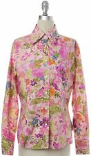 ETRO Pink Floral Button Down Shirt Size 10 IT 46
