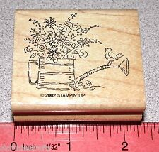 Stampin Up Flowers Stamp Single Bird Watering Can with Flowers Floral Bouquet