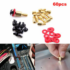 20x Computer Screws Motherboard Standoffs/ Screws/ Washers Kit 60pcs
