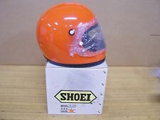 Vintage NOS Shoei S12 S 12 Motorcycle Full Face Helmet Large Orange
