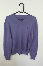 MENS VTG PURPLE RALPH LAUREN ATHLETIC SPORTS OVERHEAD SWEATER JUMPER VGC UK S/M
