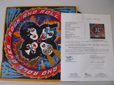 KISS x 4 Original Members Hand Signed LP + JSA COA  'BUY 100% GENUINE KISS""