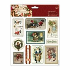 "Papermania 8 x 8"" Label Stickers (10pcs) - Victorian Christmas"