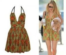 Kate Moss Liberty Floral Tribal Vtg Rope Skater Summer Sun Tea Dress 12 8 40 M
