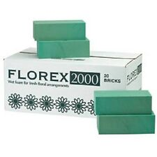 Florist Foam for fresh flowers box of 20 bricks - OASIS TYPE - Florex 2000