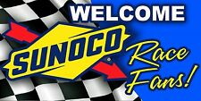 SUNOCO Welcome Race Fans! Racing Garage Trailer Banner Sign Vinyl FREE SHIPPING