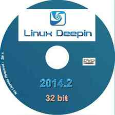 Deepin Linux  2014.2 Live/Install DVD 32 bit, O/S, Chrome LibreOffice suite +