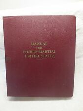 Air Force / JAG - Manual For Courts-Martial United States - 1968 HB LL