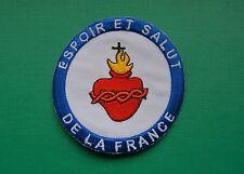 écusson brodé insigne tissu patch religieux Espoir et Salut de la France ESF