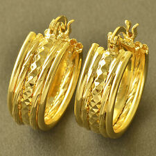 Clip On Earring 14K Gold Filled Womens small round Hoop Earrings vintage