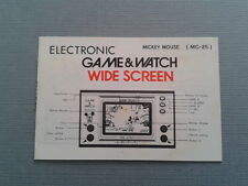 NINTENDO GAME & WATCH MICKEY MOUSE MC-25 ORIGINAL INSTRUCTION MANUAL FEW MARKS