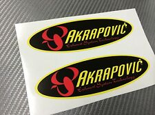 2 Adesivo Stickers AKRAPOVIC Old resistente al calore 14 cm