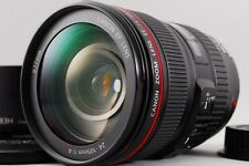 【AB- Exc】 Canon EF 24-105mm f/4 L IS USM AF Lens w/Hood, Caps From JAPAN #2415