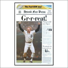 Detroit Free Press 1984 World Series Champions Front Page
