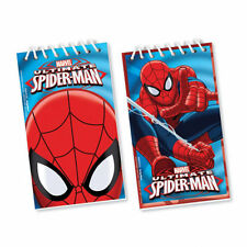 12 x Spiderman notepads Party Favours Loot Bag Fillers Spider-man Party Prizes
