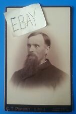 Man with Beard Antique Cabinet Photo with Nice Coat 4 1 4 by 6 5 Sepia HS