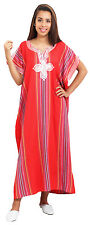 Kaftan Moroccan Women Arabian Beach Summer Caftans Dress Islamic Abaya Linen New