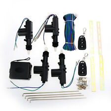 4 Door Power Central Lock Kit w/ 2 Keyless Entry Car Remote Control Conversion