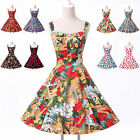 2016 Women's Square Neck Elengant Vintage Casual Swing Party prom Evening Dress